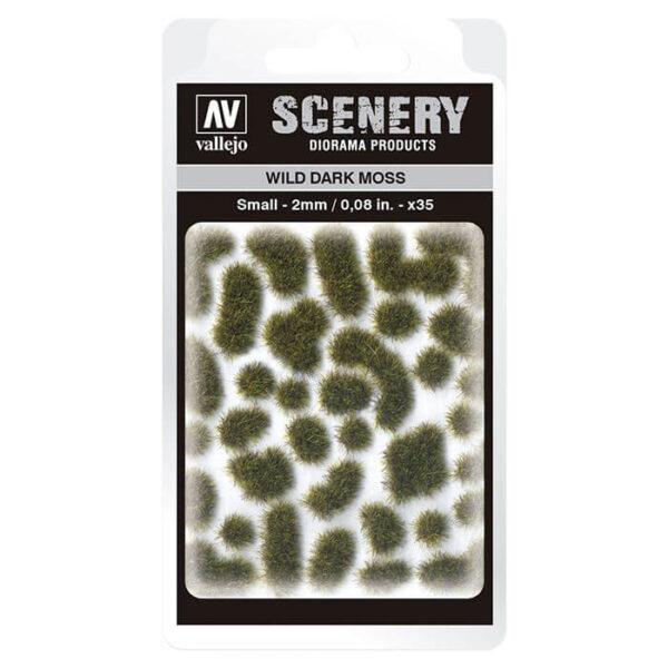 SC402 Wild Dark Moss Small Vallejo Scenery es una gama de vegetación en miniatura con la conseguir un mayor realismo a la hora de ambientar los terrenos para nuestras maquetas y figuras en viñetas y dioramas.