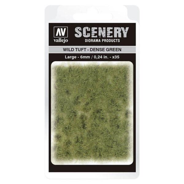 Wild Tuft - Dense green Large Vallejo Scenery es una gama de vegetación en miniatura con la conseguir un mayor realismo a la hora de ambientar los terrenos para nuestras maquetas y figuras en viñetas y dioramas.