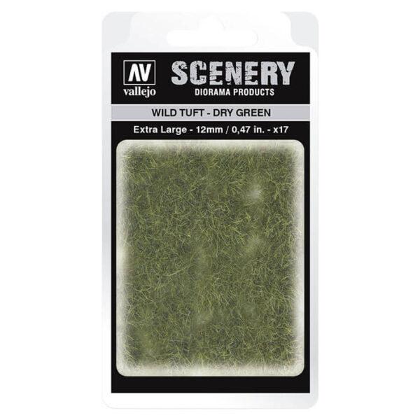 Wild Tuft - Dry Green Extra Large Vallejo Scenery es una gama de vegetación en miniatura con la conseguir un mayor realismo a la hora de ambientar los terrenos para nuestras maquetas y figuras en viñetas y dioramas.