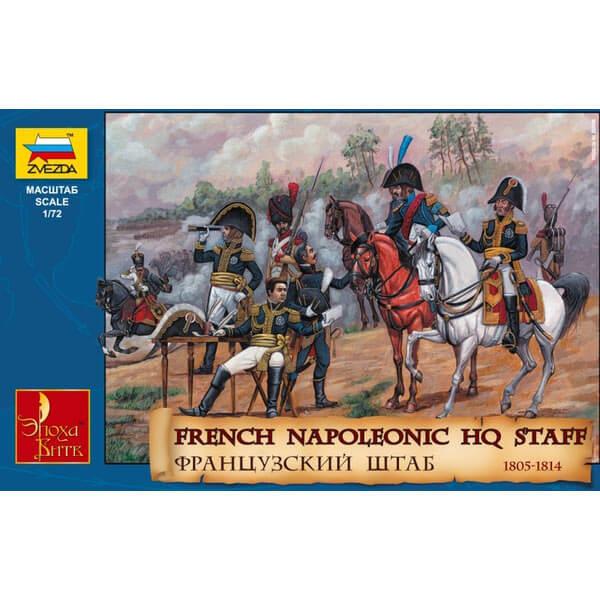 Zvezda 8080 French Napoleonic HQ Staff 1805-1814 Kit en plástico para montar y pintar.