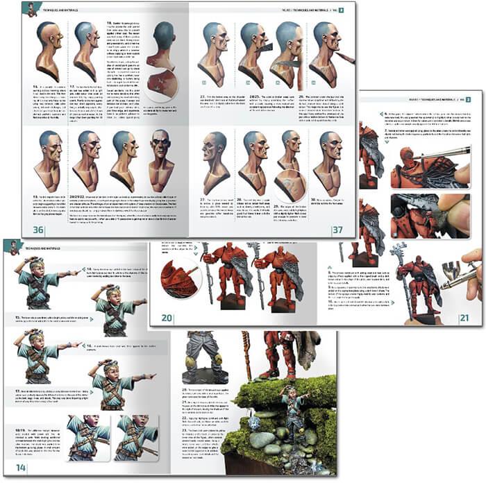 amig 6232 Enciclopedia De Técnicas De Modelismo De Figuras Vol. 2 - Técnicas y Materiales El volumen 2 de la enciclopedia de figuras se centra en los materiales, procedimientos y las técnicas más apropiadas a la hora de dar vida y pintar una miniatura.