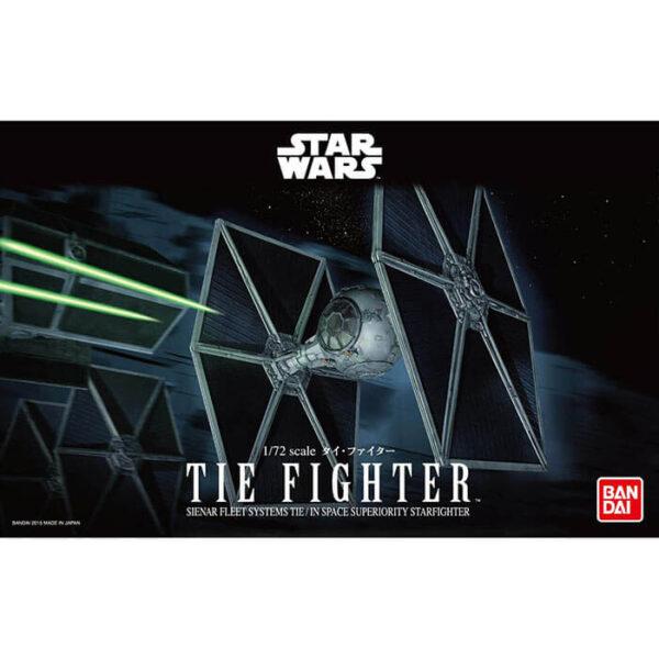 bandai 0194870 Star Wars 1/72 TIE Fighter Kit de montaje en plástico por presión, no necesita pegamento.