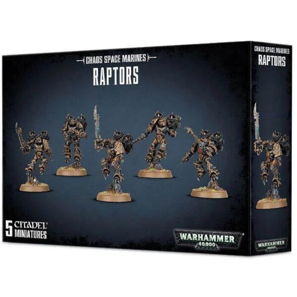 games workshop 43-13 Chaos Space Marines Raptors Warhammer 40K Kit en plástico multicomponente para montar 5 Raptors de los Chaos Space en poses dinámicas.
