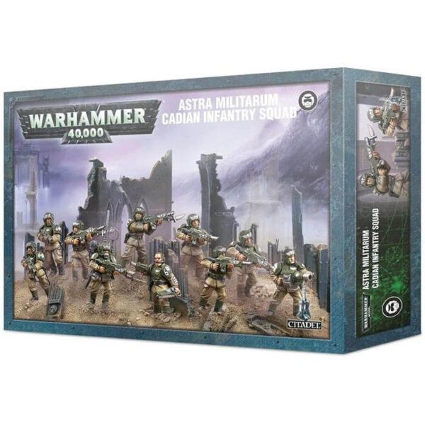 games workshop 47-17 Astra Militarum Cadian Infantry Squad Warhammer 40K Kit en plástico multicomponente para montar 10 soldados de infantería de Cadia
