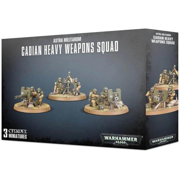 games workshop 47-19 Astra Militarum Cadian Heavy Weapon Squad Warhammer 40K Kit en plástico multicomponente para montar 3 equipos de armas pesadas de Cadia .