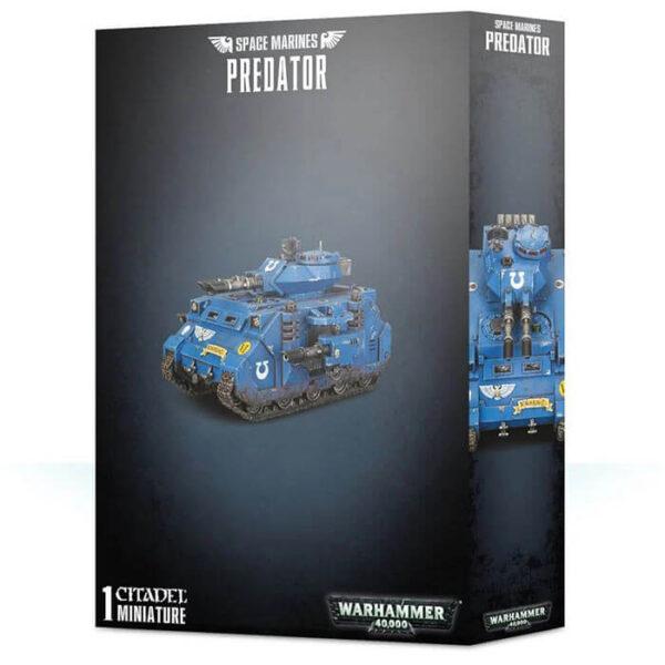 games workshop 48-23 Space Marines Predator Warhammer 40K Kit en plástico multicomponente para montar un tanque Predator de los Marines espaciales.