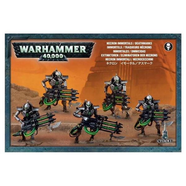 games workshop 49-10 Necron Inmortals/Deathmarks Warhammer 40K Kit en plástico multicomponente para montar 5 Omnicidas o 5 Inmortales Necron.