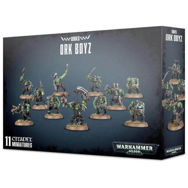 games workshop 50-10 Ork Boyz Warhammer 40K Kit en plástico multicomponente para montar 11 Ork Boys con distintas opciones de armamento. 11 Peanas redondas de 32mm.