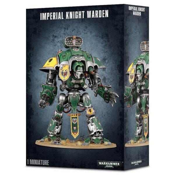 games workshop 54-12 Imperial Knights Knight Warden Kit en plástico multicomponente para montar un Imperial Knight Warden armado con un cañón gatling Vengador y una espada sierra Segador,
