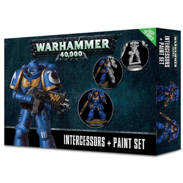 games workshop Intercessor Set de pintura Warhammer 40.000 Este set esta pensado para iniciarse con los Marines Espaciales de Warhammer 40K.