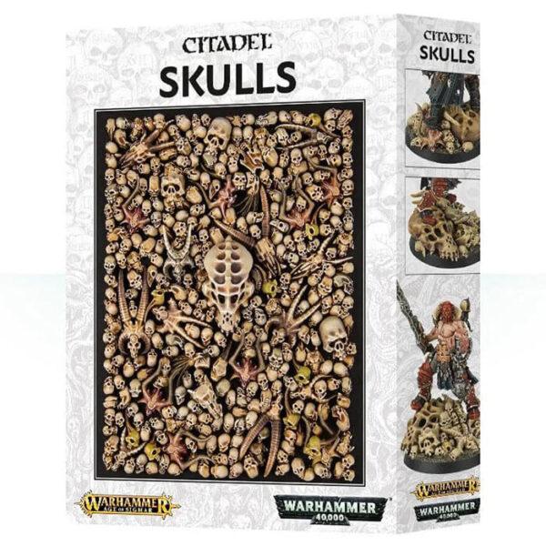 games workshop 64-29 Citadel Skulls Warhammer 40K / Age of Signar Los cráneos son un elemento fundamental en la decoración de tus peanas y escenografía. En esta caja encontraras 340 cráneos de diferentes tipos en plástico.