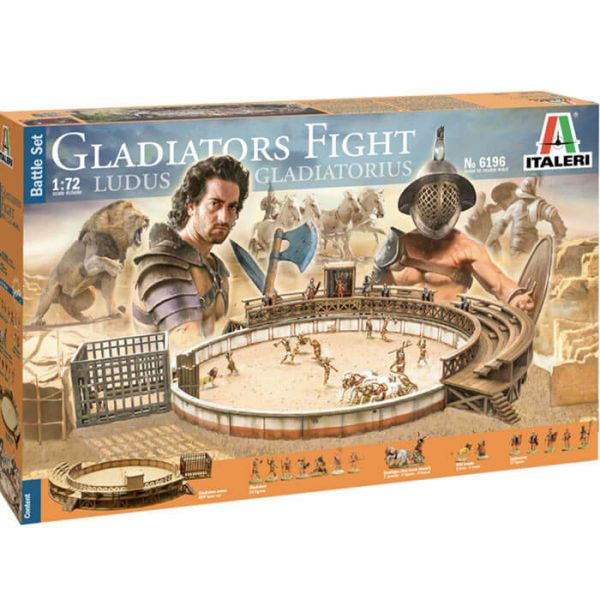 italeri 6196 Gladiators Fight - Battle Set 1/72 Ludus Gladiatorius Kit en plástico para montar y pintar.
