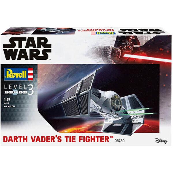 revell 06780 Star Wars Darth Vader's TIE Fighter 1/57 La maqueta representa el caza TIE utilizado por Darth Vader en la batalla de Yavin.