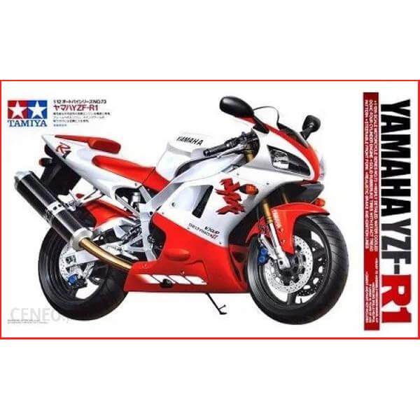 tamiya 14073 Yamaha YZF-R1 1/12 Kit en plástico para montar y pintar. Maqueta con gran precisión de detalles tipica de Tamiya.