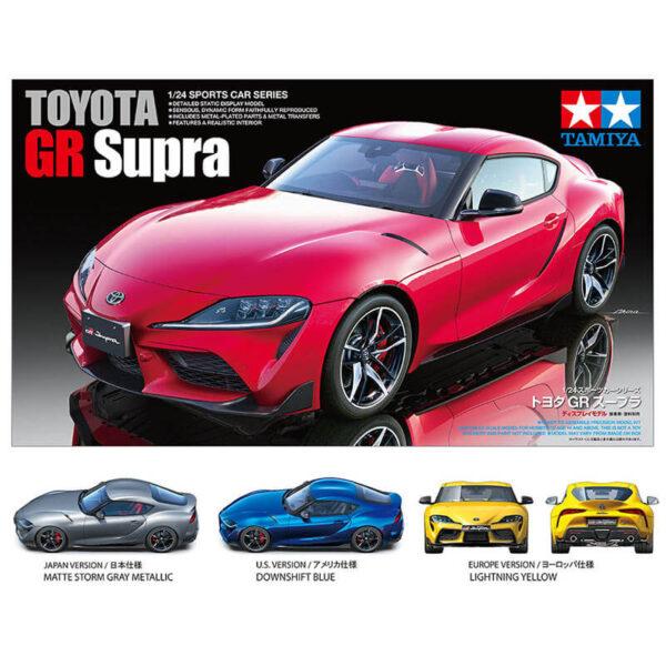 tamiy 24351 Toyota GR Supra 1/24 Kit en plástico para montar y pintar.
