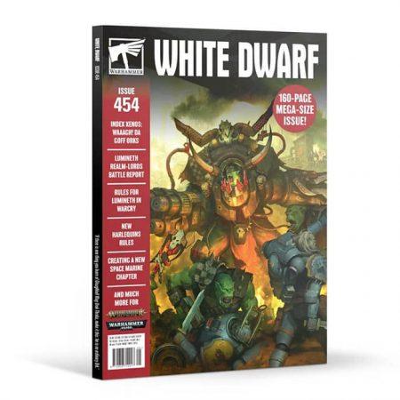 White Dwarf nº 454 revista en Inglés La revista White Dwarf esta centrada en el universo de los juegos de Games Workshop, Warhammer,Warhammer 40k, Age of Sigmar, Warhammer Underworld, etc. 160 páginas. Texto en INGLÉS