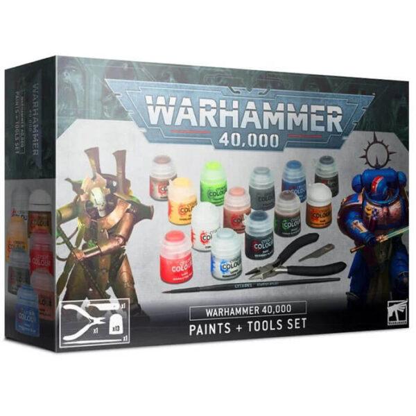 games workshop 60-12 Juego de pinturas y herramientas Warhammer 40,000 Esta caja incluye los elementos básicos para empezar a montar y pintar tus miniaturas de Warhammer 40K
