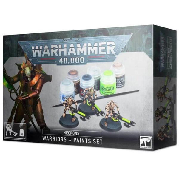 games workshop 60-69 Necrones: Set de guerreros + pinturas Esta caja es idónea para empezar tu colección de Necrones.