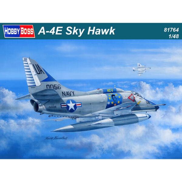 hobby boss 81764 Douglas A-4E Sky Hawk 1/48 Kit en plástico para montar y pintar. Hoja de calcas con 2 decoraciones de la US Navy.
