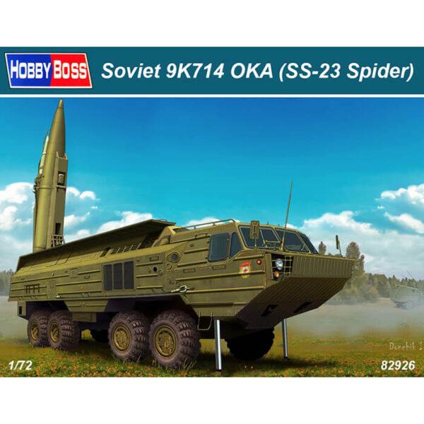 hobby boss 82926 Soviet 9K714 OKA (SS-23 Spider) 1/72 Kit en plástico para montar y pintar. Incluye piezas en fotograbado.