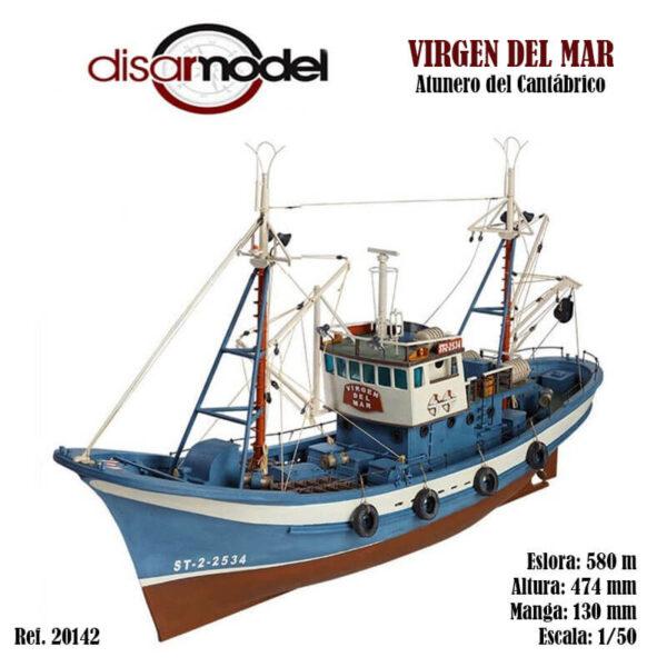 Virgen del Mar Atunero del Cantábrico 1/50 Kit de modelismo naval de montaje tradicional del clásico atunero que podemos encontrar con pequeñas diferencias en los puertos del cantábrico.