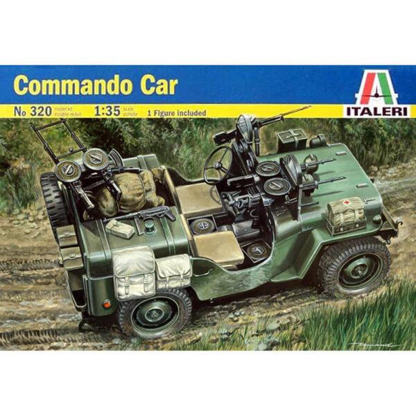 italeri 0320 Comando Car 1/35 Kit en plástico para montar y pintar. Incluye 1 figura. Longitud 95 mm