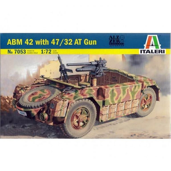 italeri 7053 ABM 42 with 47/32 AT gun 1/72 Kit en plástico para montar y pintar. Hoja de calcas con 2 decoraciones.