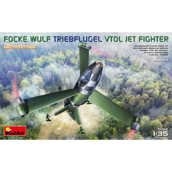 miniart 40009 Focke Wulf Triebflugel Vtol Jet Fighter 1/35 What if...? Series Kit en plástico para montar y pintar. Incluye piezas en fotograbado.