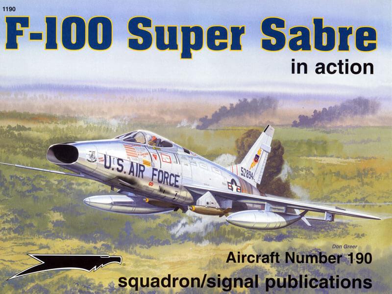 1190 F-100 Super Sabre in action