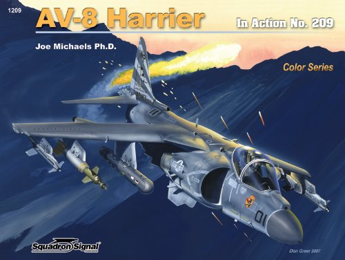 1209 AV-8 Harrier in action