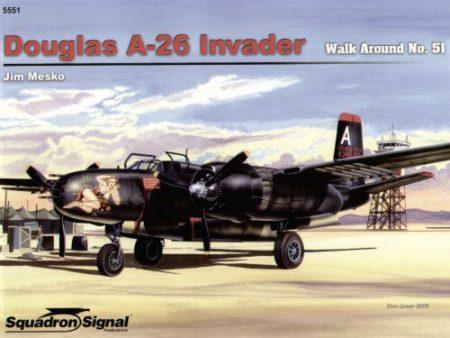 5551 Walk Arround: Douglas A-26 Invader Estudio fotográfico en detalle del Douglas A-26 Invader.