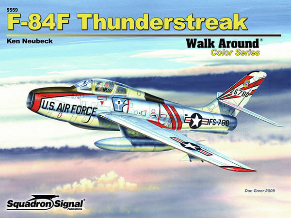 5559 Walk Arround: F-84F Thunderstreak Estudio fotográfico en detalle del F-84F Thunderstreak.