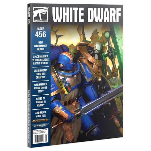 White Dwarf nº 456 revista en Inglés La revista White Dwarf esta centrada en el universo de los juegos de Games Workshop, Warhammer,Warhammer 40k, Age of Sigmar, Warhammer Underworld, etc.