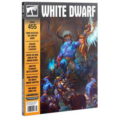 White Dwarf nº 455 revista en Inglés La revista White Dwarf esta centrada en el universo de los juegos de Games Workshop, Warhammer,Warhammer 40k, Age of Sigmar, Warhammer Underworld, etc. 160 páginas.