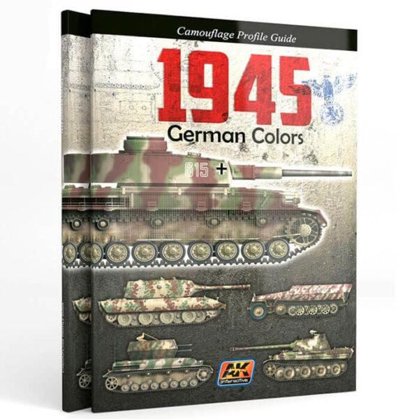 AK 403 1945 German Colors Camouflage Profile Guide Este libro analiza las variantes de color originales, llamativas y los patrones de camuflaje introducidos por el ejército alemán a finales de 1944 como se usaron durante el último año de la guerra, 1945.