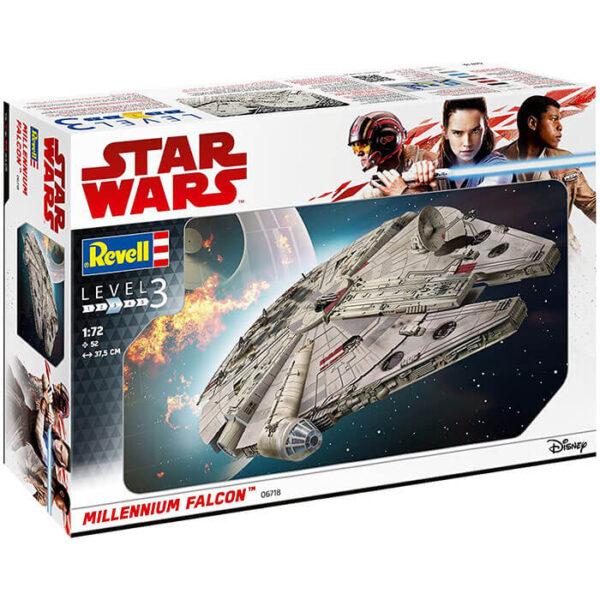 Revell 06718 Star Wars Millennium Falcon 1/72 Kit en plástico para montar y pintar.
