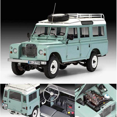 Revell 07047 Land Rover Series III LWB 1/24 Station Wagon Kit en plástico para montar y pintar. Opción volante a la izquierda o derecha, motor detallado.
