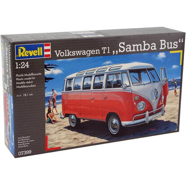 Revell 07399 Volkswagen VW T1 Samba Bus 1/24 Kit en plástico para montar y pintar.
