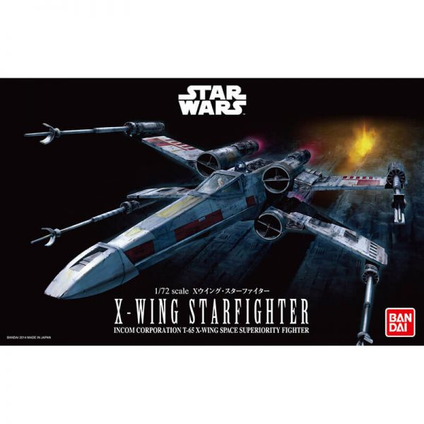 bandai 0191406 Star Wars 1/72 X-Wing Starfighter Kit en plástico para montar y pintar.
