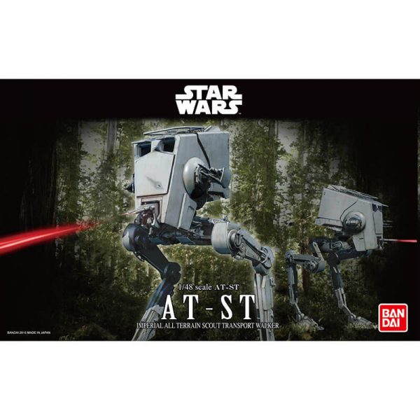 bandai 0194869 Star Wars 1/48 AT-ST Imperial All Terrain Scout Transport Walker Kit en plástico para montar y pintar.