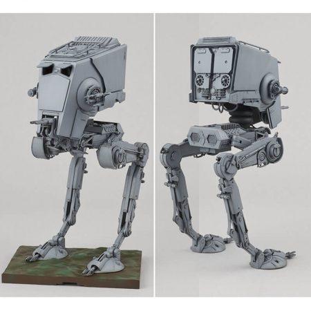 bandai 0194869 Star Wars 1/48 AT-ST Imperial All Terrain Scout Transport Walker Kit en plástico para montar y pintar.