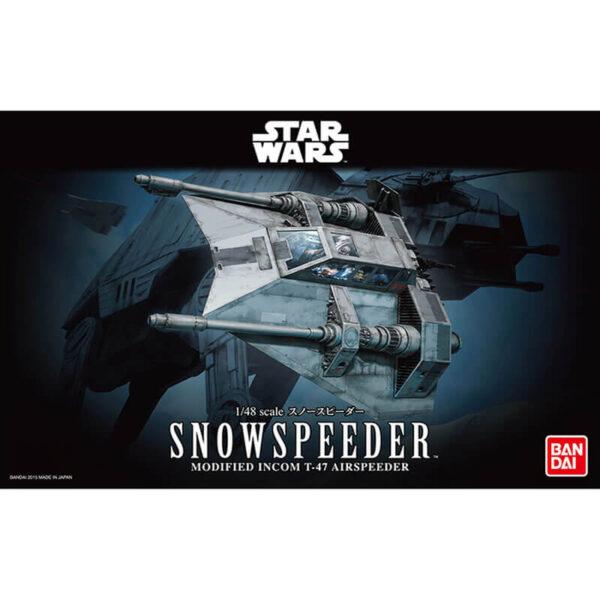 bandai 0196692 Star Wars 1/48 Snowspeeder Kit en plástico para montar y pintar.