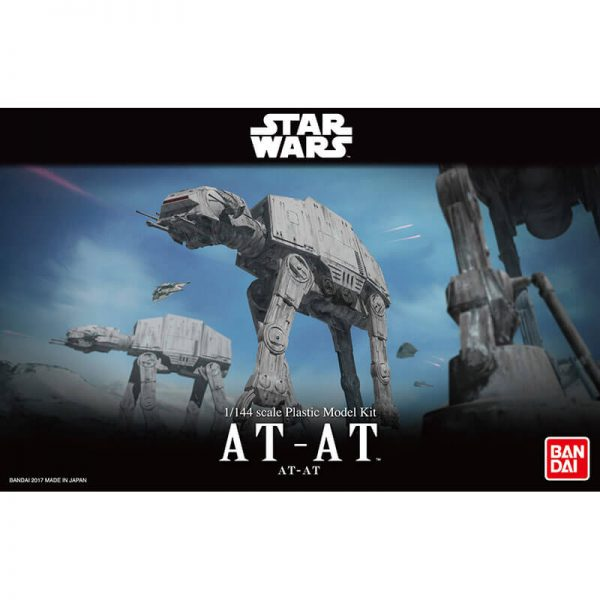 bandai 0214476 Star Wars 1/144 AT-AT All Terrain Armored Transport Kit en plástico para montar y pintar.
