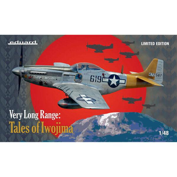 eduard 11142 VERY LONG RANGE: Tales of Iwojima P-51D 1/48 El kit está centrado en los aparatos del 15 ° FG, 506 ° FG, 21 ° FG utilizados para misiones de muy largo alcance. Kit en plástico para montar y pintar, incluye piezas en fotograbado, resina y mascarillas.