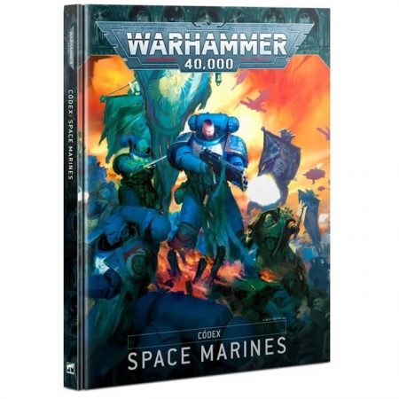games workshop 48-01 Códex: Space Marines El libro definitivo para coleccionistas de Space Marines. 98 hojas de datos que cubren las unidades disponibles para cada Capítulo.
