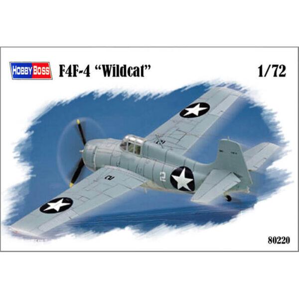 hobby boss 80220 F4F-4 Wildcat 1/72 Kit en plástico para montar y pintar. Hoja de calcas con 2 decoraciones. Longitud 122.8 mm