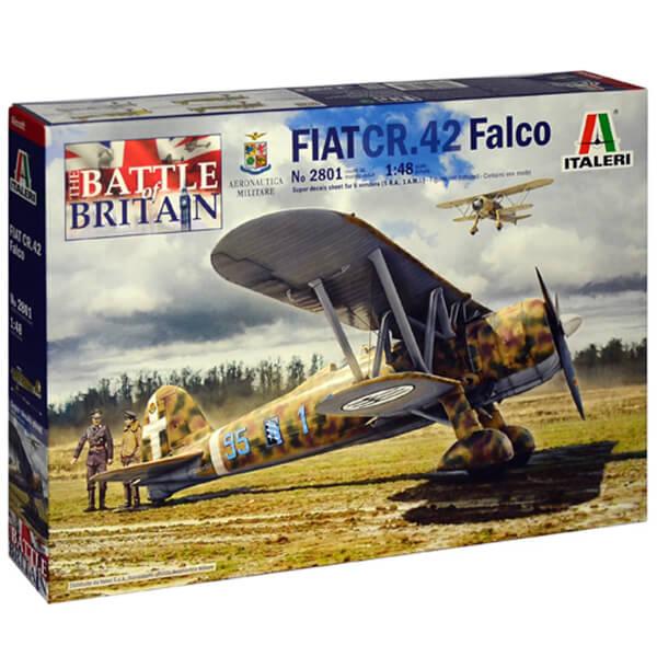 italeri 2801 FIAT CR.42 Falco 1/48 Kit en plástico para montar y pintar. Hoja de calcas con 6 decoraciones.