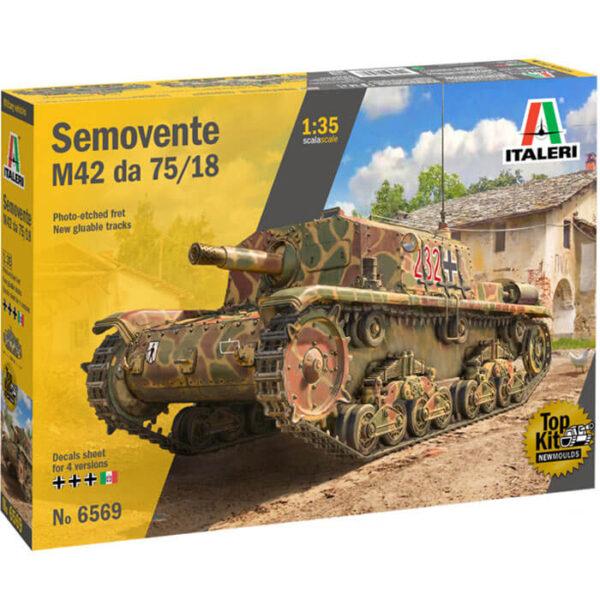 italeri 6569 Semovente M42 da 75/18 1/35 Kit en plástico para montar y pintar. Incluye interior detallado y fotograbados