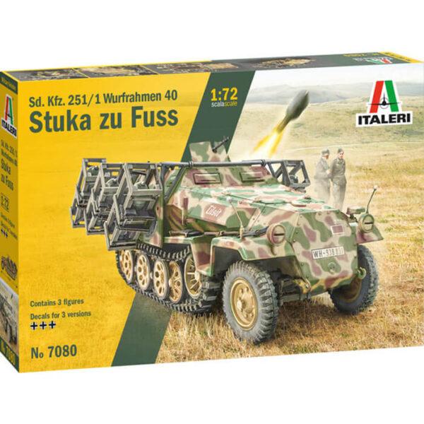 italeri 7080 Sd. Kfz. 251/1 Wurfrahmen Stuka zu Fuss 1/72 Kit en plástico para montar y pintar.