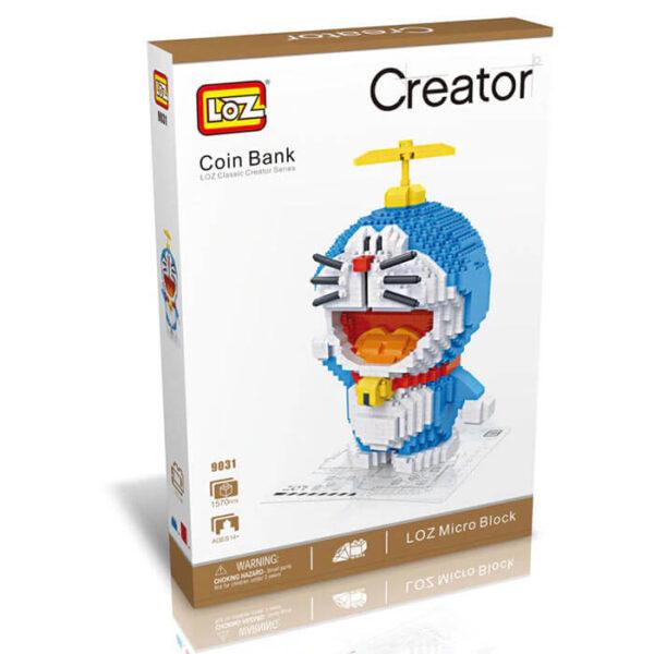 Loz 9031 Hucha Doraemon 1570 pcs Kit del clásico personaje de manga Doraemon que a la vez es una hucha.